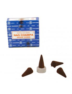 """Encens Naturel """" Nag Champa """" / 12 Cônes [Satya BNG]"""