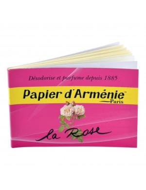 Papier d'Arménie à la Rose en Carnet de 12 Feuilles (36 Lamelles)