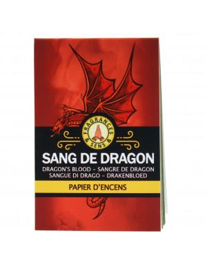 Papier d'Encens au Sang du Dragon en Carnet de 12 Feuilles (36 Lamelles)