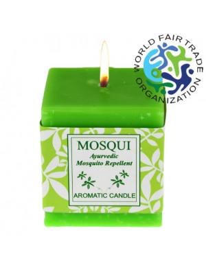 Bougie Anti-Moustique Carrée Naturelle / 100 Gr. [Mereville Trust]