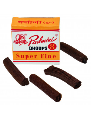 """Dhoop Sticks """" Super Fine """" d'Encens Naturel / 8 Dhoop Sticks [Padmini]"""