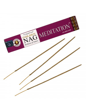 """Encens Naturel """" Golden Nag Meditation """" / 15 gr. [Vijayshree]"""