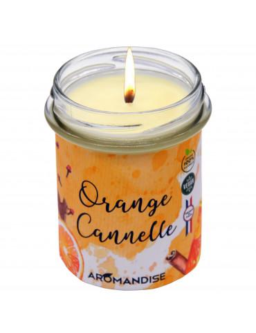 "Bougie "" Orange + Cannelle "" 100% Naturelle / 150 Gr. [Aromandise]"