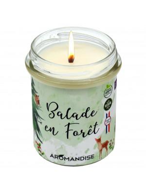 """Bougie """" Balade en Forêt """" 100% Naturelle / 150 Gr. [Aromandise]"""