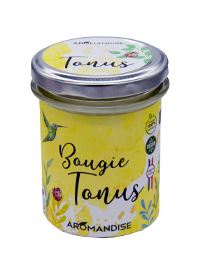 "Bougie "" Tonus "" 100% Naturelle / 150 Gr. [Aromandise]"