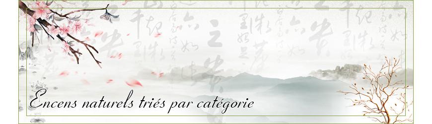 Encens naturels par catégorie : encens indien, japonais, tibétain,...