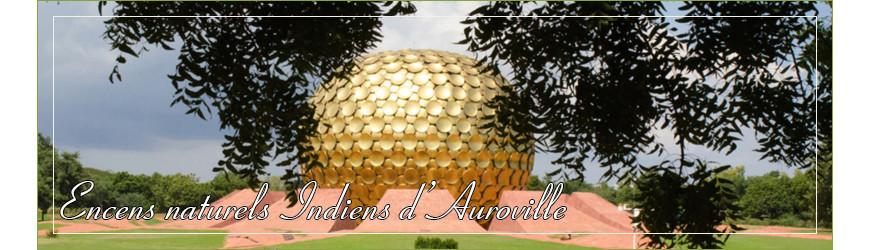 Encens naturel d'Auroville en bâtonnet et en cône